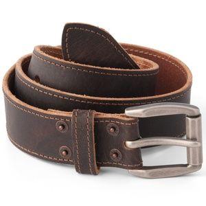 Levi's Genuine Leather Belt Riveted Metal Buckle